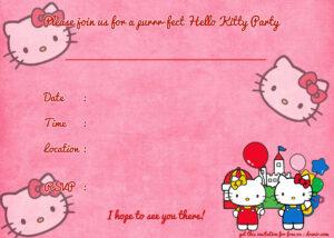 Printable Hello Kitty Birthday Invitation | Party | Hello pertaining to Hello Kitty Birthday Card Template Free