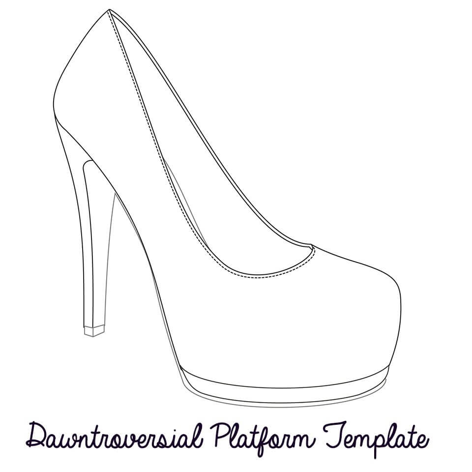 Printable High Heel Stencil Best Photos Of <B>High Heel Pertaining To High Heel Shoe Template For Card