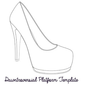 Printable High Heel Stencil Best Photos Of <B>High Heel throughout High Heel Template For Cards