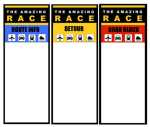 Printable Logo | Amazing Race | Amazing Race Games, Amazing for Clue Card Template