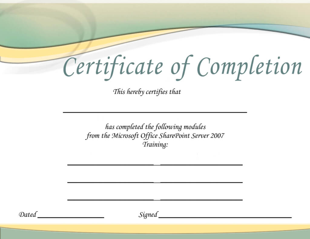Printable Microsoft Office Certificate | Certificate Templates Pertaining To Microsoft Office Certificate Templates Free