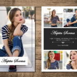 Printable Modeling Comp Card Template | Fashion Model Comp Card | Photoshop  And Ms Word Template | Instant Download | Mc 43 Pertaining To Download Comp Card Template