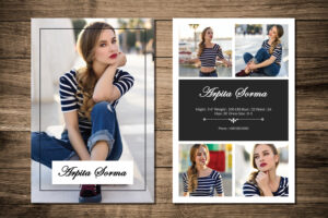 Printable Modeling Comp Card Template | Fashion Model Comp Card | Photoshop  And Ms Word Template | Instant Download | Mc-43 pertaining to Download Comp Card Template