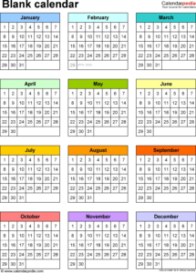 Printable Month At A Glance Blank Calendar – 2018 Calendar throughout Month At A Glance Blank Calendar Template