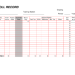 Printable Payroll Ledger | Blank Payroll Record – Pdf | Work With Regard To Blank Ledger Template