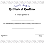 Printable Pdfs Certificate Of Excellence Template Regarding Free Certificate Of Excellence Template