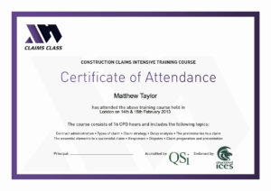 Printable Perfect Attendance Certificate Template Or for Perfect Attendance Certificate Template