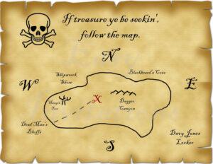 Printable Pirate Treasure Map Best Photos Of Template Blank within Blank Pirate Map Template