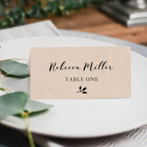 Printable Place Cards, Place Card Template, Editable Place for Ms Word Place Card Template
