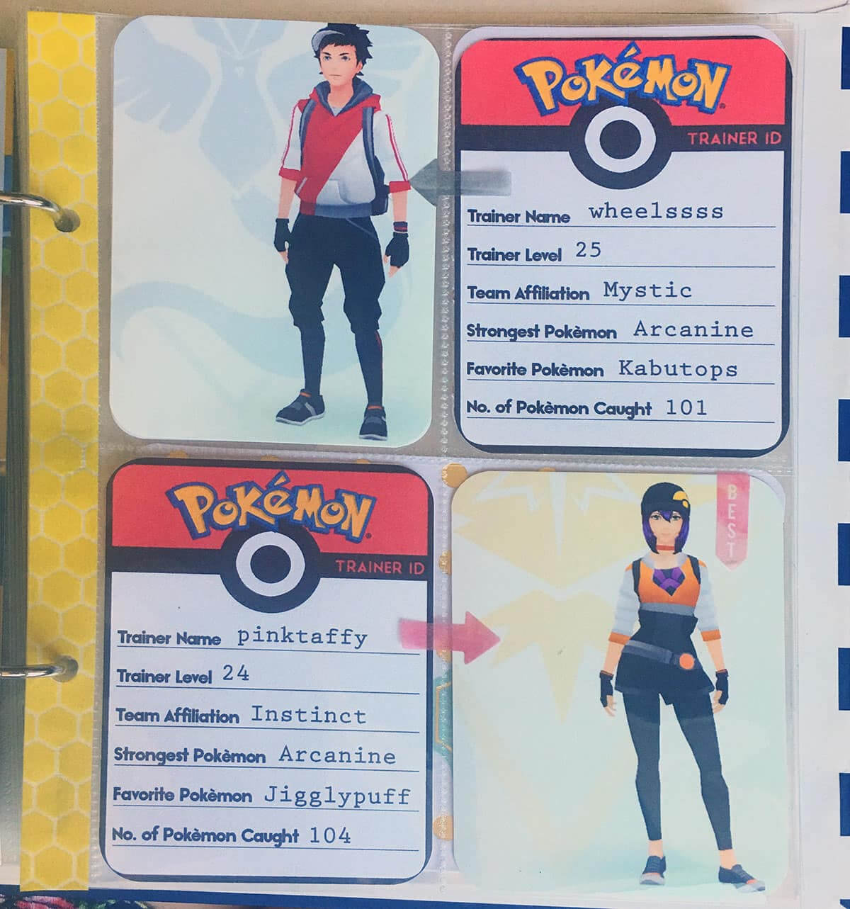 Printable Pokémon Go Trainer Id Cards – Love Paper Crafts For Pokemon Trainer Card Template