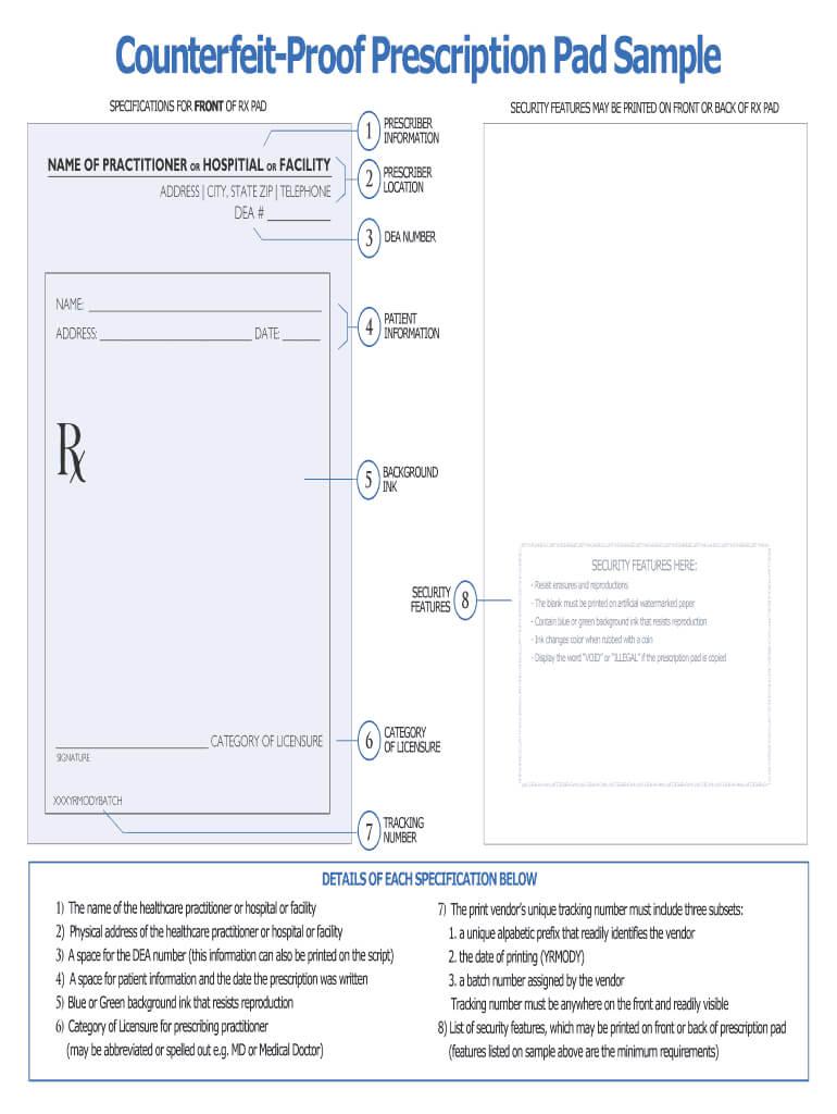 Printable Prescription Pad – Fill Online, Printable Throughout Doctors Prescription Template Word