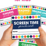 Printable Punch Cards For Kids | Moritz Fine Designs Intended For Free Printable Punch Card Template