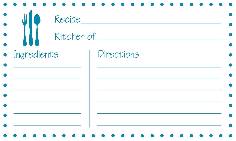 Printable Recipe Card Template Word 650*388 - Recipe Card With Fillable Recipe Card Template
