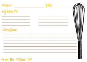 Printable Recipe Cards For Kids Recipe Template For Kids In Fillable Recipe Card Template