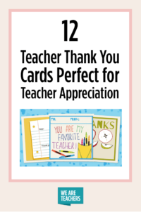 Printable Teacher Thank You Cards For Teacher Appreciation inside Thank You Card For Teacher Template