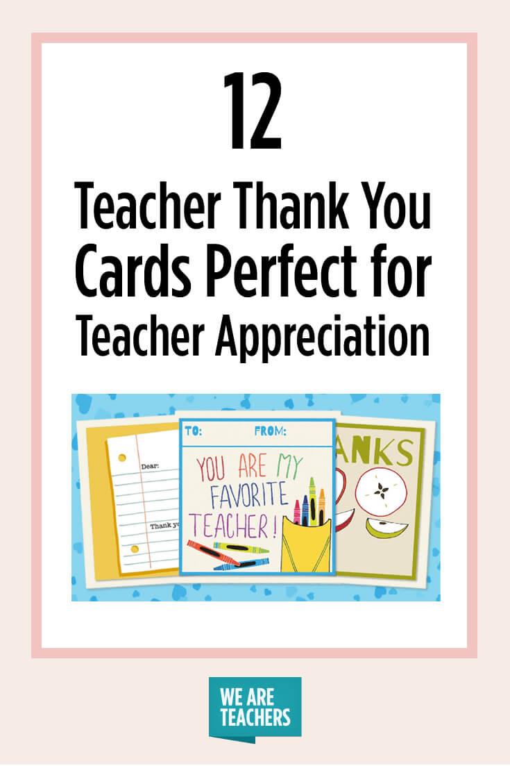 Printable Teacher Thank You Cards For Teacher Appreciation Inside Thank You Card For Teacher Template