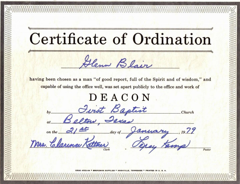 Printable Template Design Ordination Certificate Template With Certificate Of Ordination Template