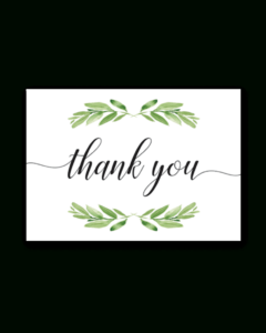 Printable Thank You Card Green Leaves | Baby Shower | Baby regarding Thank You Card Template For Baby Shower