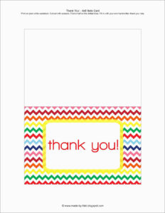 Printable Thank You Card Template – Floss Papers for Free Printable Thank You Card Template