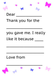 Printable Thank You Card Template For Kids | Kids Thank Yous within Thank You Note Cards Template