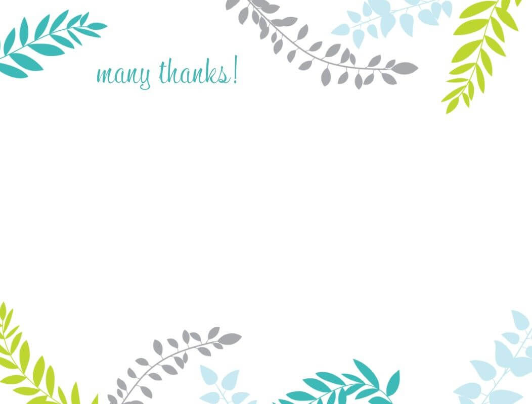 Printable Thank You Card Template | Harmonia Gift For Thank You Card Template Word