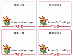 Printable Thank You Card Template Then 5 Best Of Printable with Christmas Thank You Card Templates Free