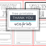 Printable Thank You Cards For Kids – The Kitchen Table Classroom For Free Templates For Cards Print