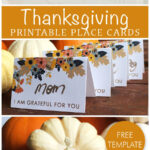 Printable Thanksgiving Place Card | Fall, Halloween, And Inside Thanksgiving Place Cards Template