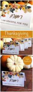 Printable Thanksgiving Place Card | Fall, Halloween, And intended for Thanksgiving Place Card Templates