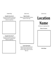 Printable Travel Brochure Template For Kids | Theveliger for Travel Brochure Template For Students