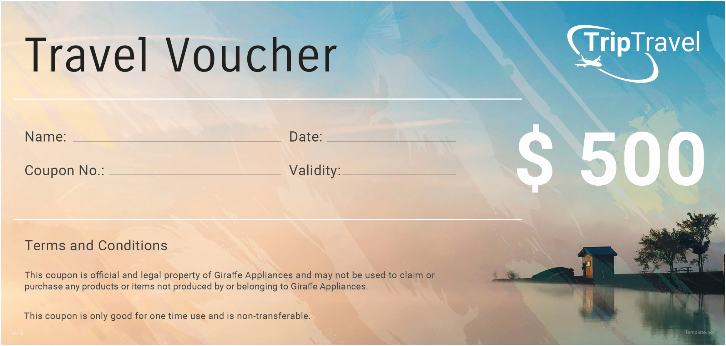 Printable Vacation Gift Certificate Template Free Regarding Free Travel Gift Certificate Template