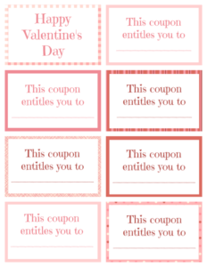 Printable Valentine Coupon Book Blank | Printables With Regard To Blank Coupon Template Printable