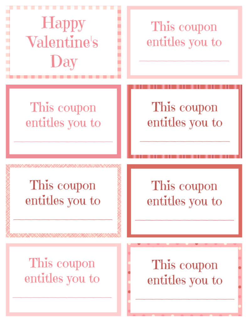 Printable Valentine Coupon Book Blank | Printables With Regard To Blank Coupon Template Printable
