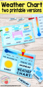 Printable Weather Charts – Perfect For Having The Kids Mark intended for Kids Weather Report Template