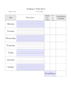 Printable Weekly Time Sheet | Printable Timecard | Teaching within Weekly Time Card Template Free