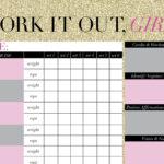 Printable Workout Calendar | Calendar Template Printable Inside Blank Workout Schedule Template