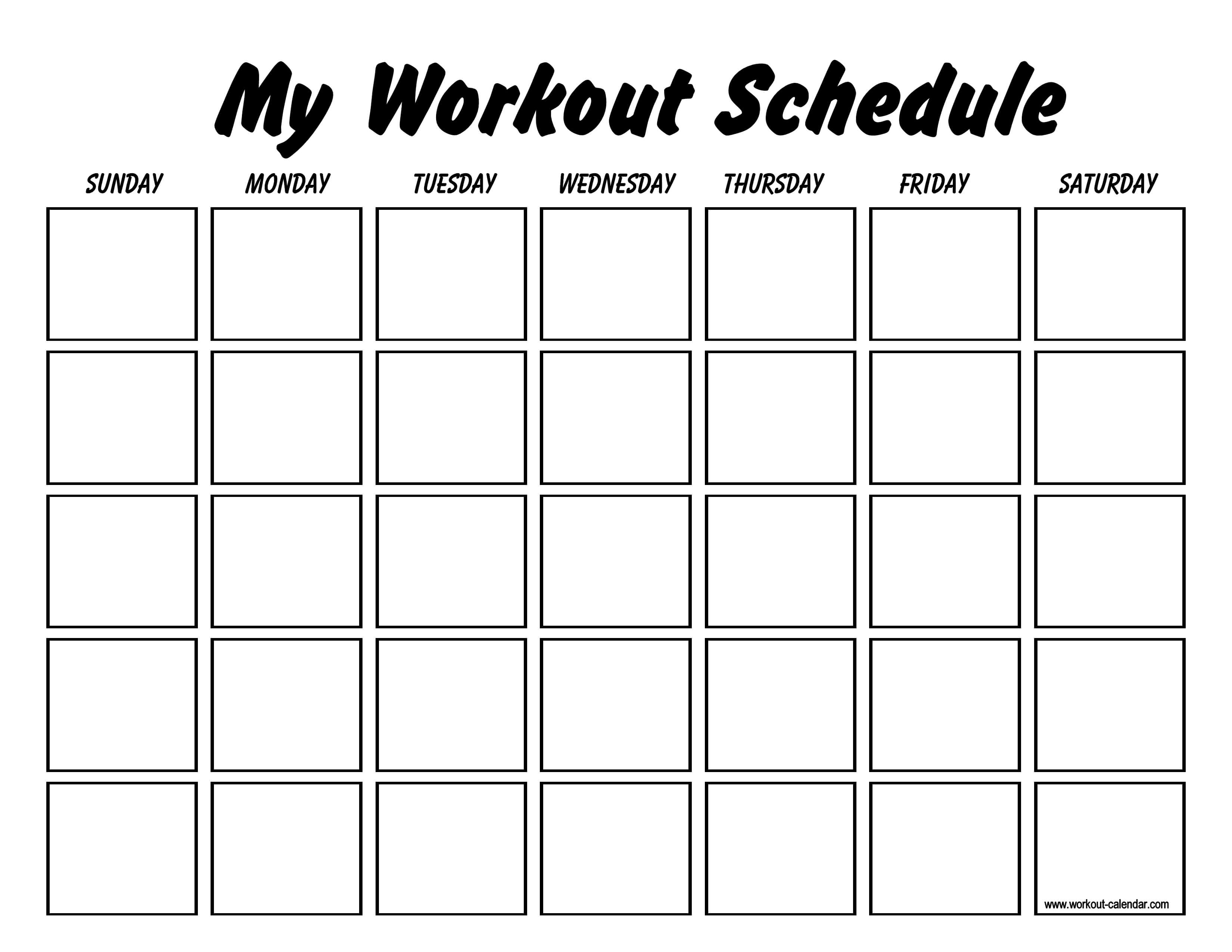 Printable Workout Log Sheets | Templates At Inside Blank Workout Schedule Template