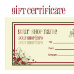 Printable+Christmas+Gift+Certificate+Template | Massage Within Massage Gift Certificate Template Free Download