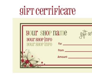Printable+Christmas+Gift+Certificate+Template | Massage within Massage Gift Certificate Template Free Printable