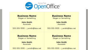Printing Business Cards In Openoffice Writer pertaining to Index Card Template Open Office