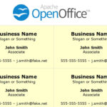 Printing Business Cards In Openoffice Writer throughout Business Card Template Open Office