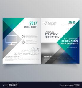 Professional Blue Bi Fold Brochure Template Design intended for Technical Brochure Template
