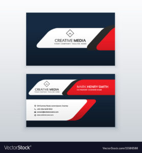 Professional Business Card Design Template In Red for Professional Name Card Template
