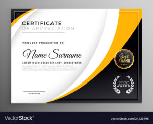 Professional Certificate Template Diploma Award throughout Professional Award Certificate Template