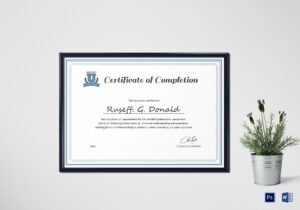 Professional Course Completion Certificate Template with Certificate Of Completion Word Template