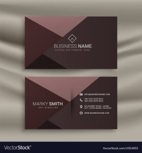 Professional Dark Business Card Design Template pertaining to Professional Name Card Template