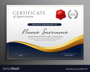 Professional Diploma Certificate Template Design within Design A Certificate Template
