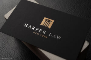 Professional Foil Stamped Lawyer Business Card Template for Lawyer Business Cards Templates