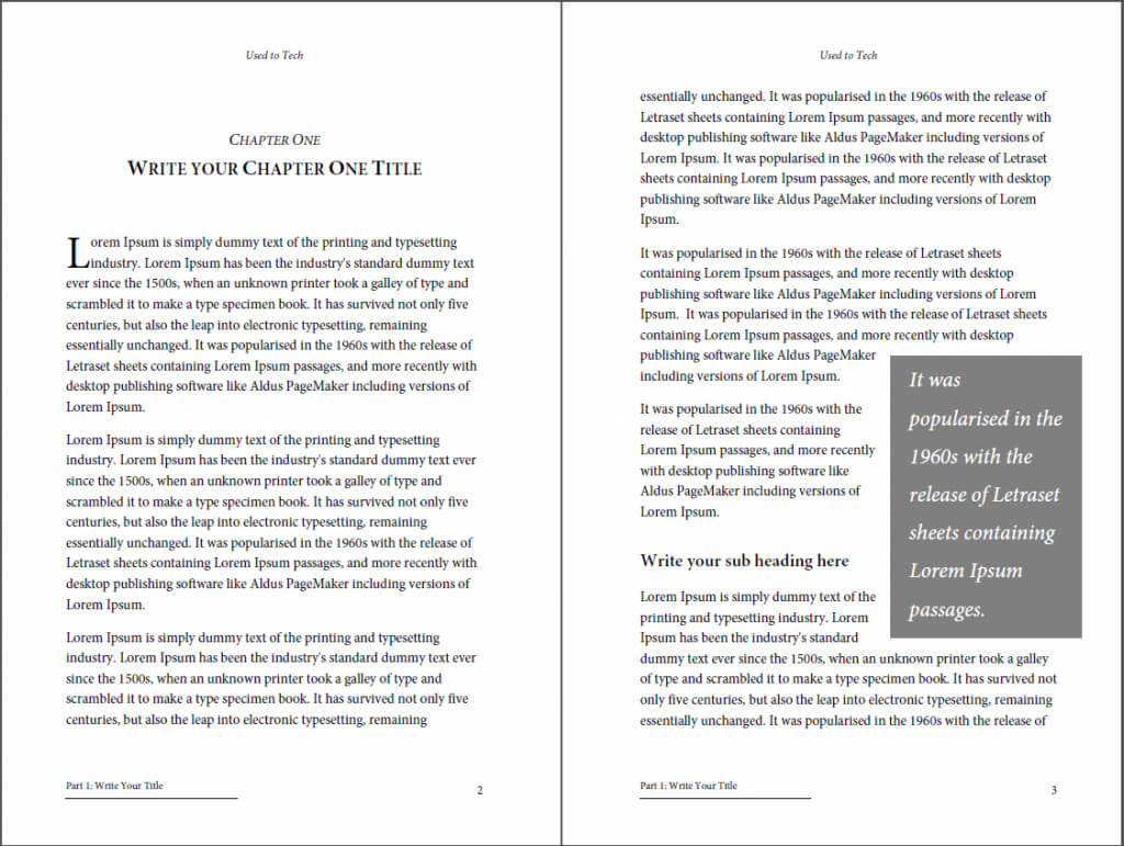 Professional Looking Book Template For Word, Free - Used To Tech With 6X9 Book Template For Word