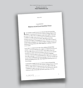 Professional-Looking Book Template For Word, Free – Used To Tech within How To Create A Book Template In Word